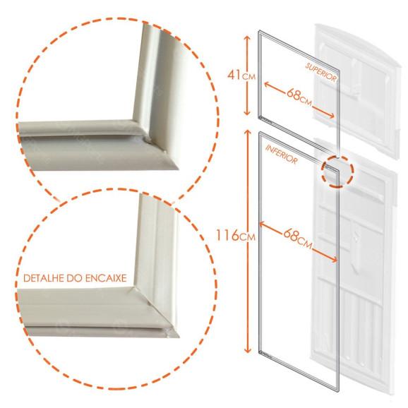Borracha Gaxeta Refrigerador Geladeiras Bosch Kdn42 e Kdn43