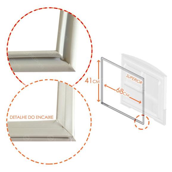 Medidas Borracha Superior Geladeira Bosch Continental KDN42 KDN43 KDN44 KDV44 RDV45