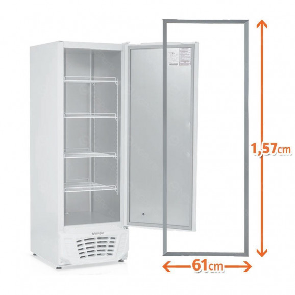 Medidas Borracha Freezer Vertical Gelopar GTPC-575