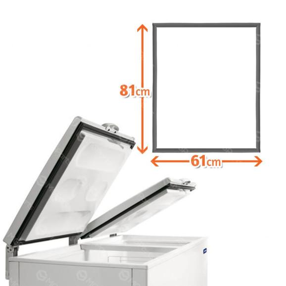 borracha gaxeta freezer horizontal metalfrio da550