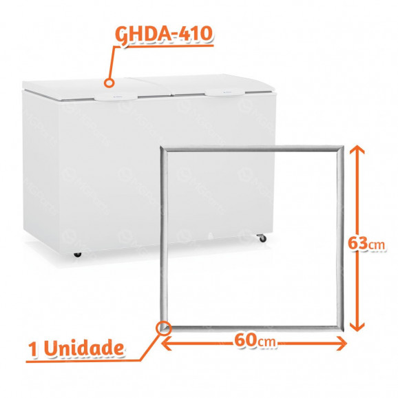 borracha gaxeta freezer horizontal gelopar ghda-410