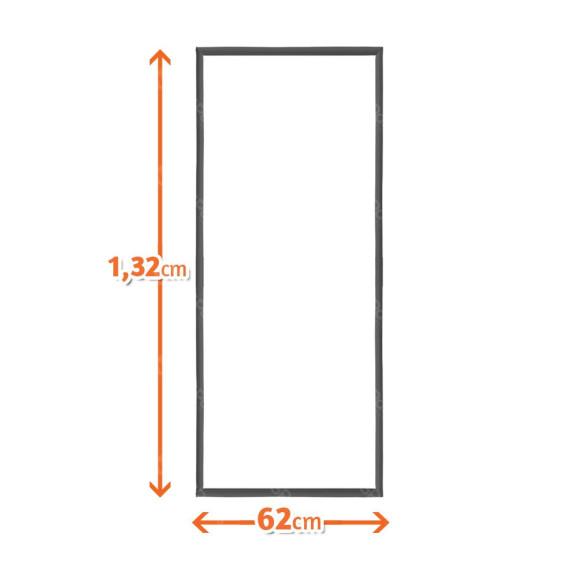 borracha gaxeta freezer vertical metalfrio 2800