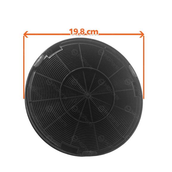 Diâmetro Filtro De Carvão Ativado das Coifas Brastemp BAI90A, BAI90B e BAI91A 326007016
