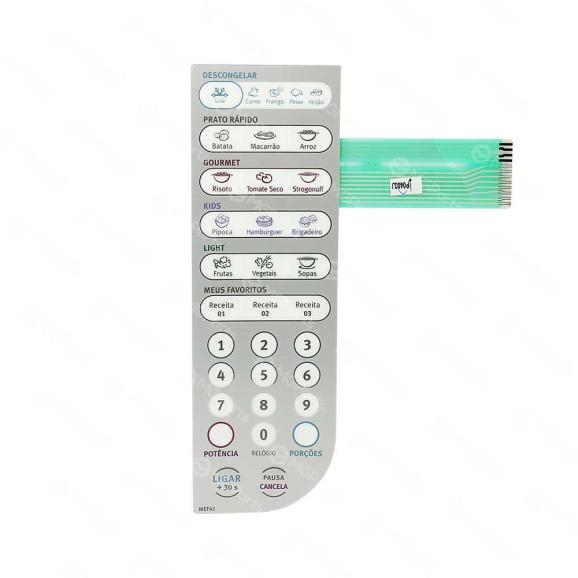 Frente Painel Membrana Forno Microondas Electrolux MEF41 - 69580894