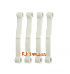Kit c/ 4 Tirantes de Apoio dos Varões Lavadoras de Roupa Brastemp e Consul - 326000516